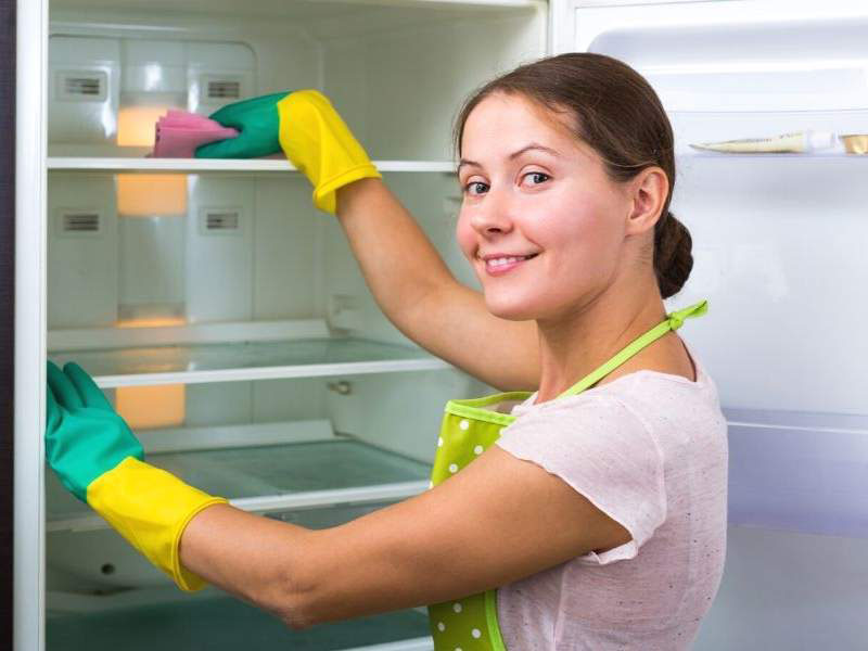 The refrigerator cleaning